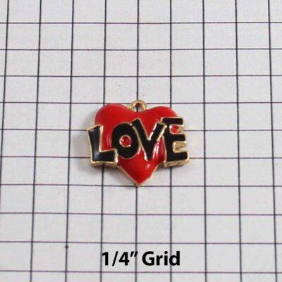 Heart Wedding Garter / St. Valentine's Day / Red / Black / Tattoo - Charm 284 / Wedding Garters / Bridal Garter / Prom Garter / Linda Joyce Couture