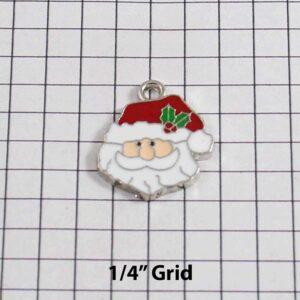 Christmas Wedding Garter / Santa Claus / Father Christmas / Saint Nicholas / Saint Nick / Kris Kringle / Holiday - Charm-311 / Wedding Garters / Bridal Garter / Prom Garter / Linda Joyce Couture