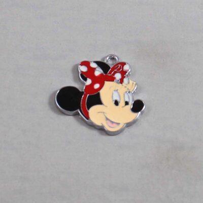Minnie Mouse Wedding Garter / Disney / Cartoon - Charm 314 / Wedding Garters / Bridal Garter / Prom Garter / Linda Joyce Couture