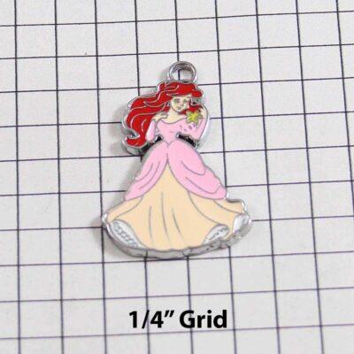 The Little Mermaid Wedding Garter / Princess Ariel / Disney / Fairy Tale - Charm 316 / Wedding Garters / Bridal Garter / Prom Garter / Linda Joyce Couture
