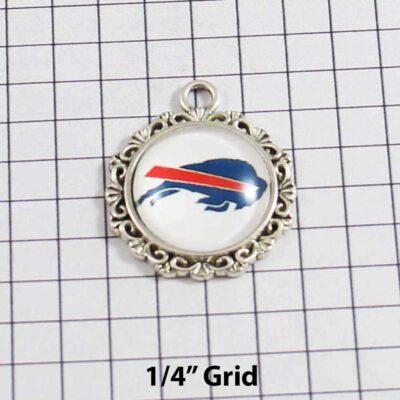 Buffalo Bills Wedding Garter / NFL / Football - Charm 377 / Wedding Garters / Bridal Garter / Prom Garter / Linda Joyce Couture