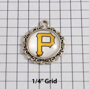 Pittsburgh Pirates Wedding Garter / MLB / Baseball - Charm-379 / Wedding Garters / Bridal Garter / Prom Garter / Linda Joyce Couture