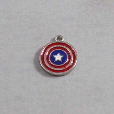 Captain America Wedding Garter / Marvel Comics / Superhero - Charm 380 / Wedding Garters / Bridal Garter / Prom Garter / Linda Joyce Couture