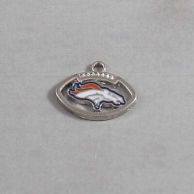 Denver Broncos Wedding Garter / NFL / Football - Charm 392 / Wedding Garters / Bridal Garter / Prom Garter / Linda Joyce Couture