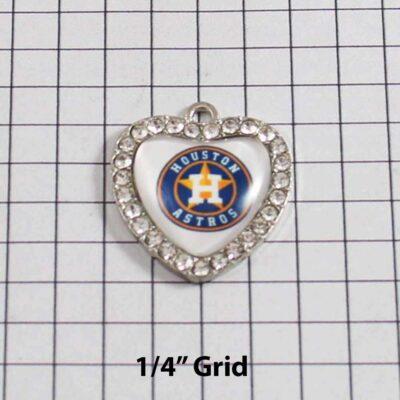 Houston Astros Wedding Garter / MLB / Baseball - Charm 489 / Wedding Garters / Bridal Garter / Prom Garter / Linda Joyce Couture