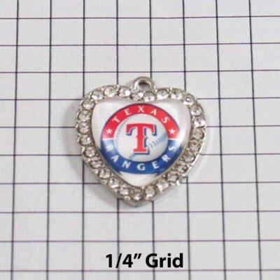 Texas Rangers Wedding Garter / MLB / Baseball - Charm 490 / Wedding Garters / Bridal Garter / Prom Garter / Linda Joyce Couture