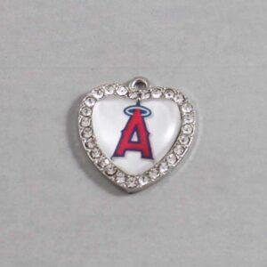 Anaheim Angels Wedding Garter / MLB / Baseball - Charm-492 / Wedding Garters / Bridal Garter / Prom Garter / Linda Joyce Couture