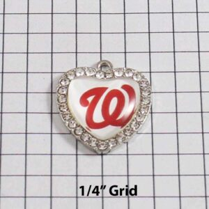 Washington Nationals Wedding Garter / MLB / Baseball - Charm-493 / Wedding Garters / Bridal Garter / Prom Garter / Linda Joyce Couture