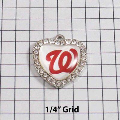 Washington Nationals Wedding Garter / MLB / Baseball - Charm 493 / Wedding Garters / Bridal Garter / Prom Garter / Linda Joyce Couture