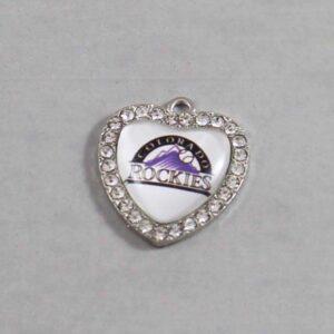 Colorado Rockies Wedding Garter / MLB / Baseball - Charm-497 / Wedding Garters / Bridal Garter / Prom Garter / Linda Joyce Couture