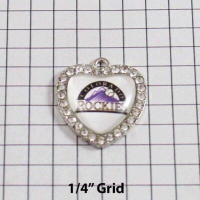 Colorado Rockies Wedding Garter / MLB / Baseball - Charm 497 / Wedding Garters / Bridal Garter / Prom Garter / Linda Joyce Couture