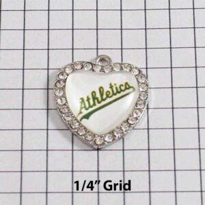 Oakland Athletics Wedding Garter / MLB / Baseball - Charm-502 / Wedding Garters / Bridal Garter / Prom Garter / Linda Joyce Couture