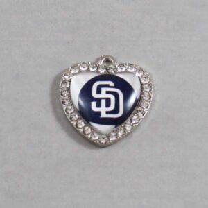 San Diego Padres Wedding Garter / MLB / Baseball - Charm-503 / Wedding Garters / Bridal Garter / Prom Garter / Linda Joyce Couture