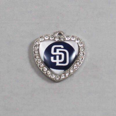 San Diego Padres Wedding Garter / MLB / Baseball - Charm 503 / Wedding Garters / Bridal Garter / Prom Garter / Linda Joyce Couture