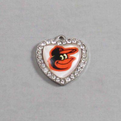 Baltimore Orioles Wedding Garter / MLB / Baseball - Charm 505 / Wedding Garters / Bridal Garter / Prom Garter / Linda Joyce Couture