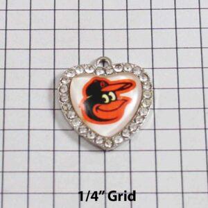 Baltimore Orioles Wedding Garter / MLB / Baseball - Charm-505 / Wedding Garters / Bridal Garter / Prom Garter / Linda Joyce Couture