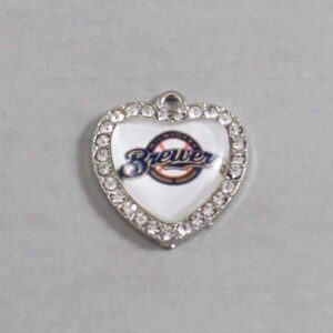 Milwaukee Brewers Wedding Garter / MLB / Baseball - Charm-506 / Wedding Garters / Bridal Garter / Prom Garter / Linda Joyce Couture