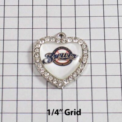 Milwaukee Brewers Wedding Garter / MLB / Baseball - Charm 506 / Wedding Garters / Bridal Garter / Prom Garter / Linda Joyce Couture