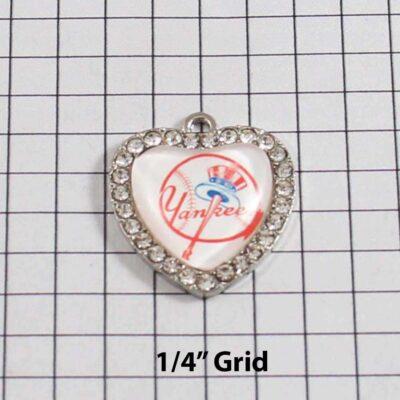 New York Yankees Wedding Garter / MLB / Baseball - Charm 507 / Wedding Garters / Bridal Garter / Prom Garter / Linda Joyce Couture