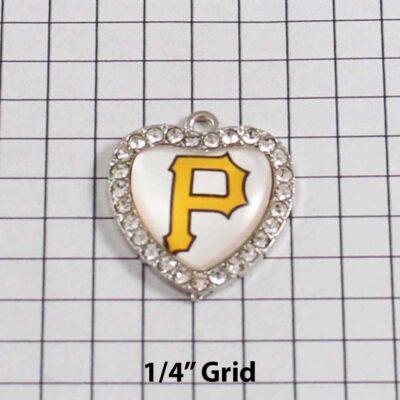 Pittsburgh Pirates Wedding Garter / MLB / Baseball - Charm 509 / Wedding Garters / Bridal Garter / Prom Garter / Linda Joyce Couture