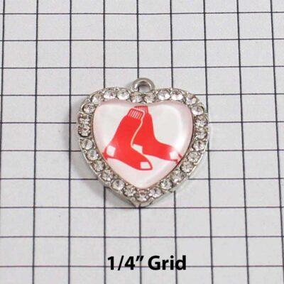 Boston Red Sox Wedding Garter / MLB / Baseball - Charm 512 / Wedding Garters / Bridal Garter / Prom Garter / Linda Joyce Couture