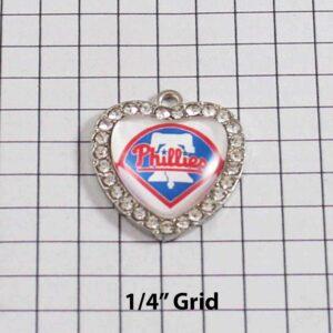 Philadelphia Phillies Wedding Garter / MLB / Baseball - Charm-514 / Wedding Garters / Bridal Garter / Prom Garter / Linda Joyce Couture