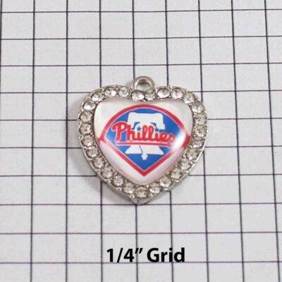 Philadelphia Phillies Wedding Garter / MLB / Baseball - Charm 514 / Wedding Garters / Bridal Garter / Prom Garter / Linda Joyce Couture