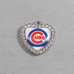 Chicago Cubs Wedding Garter / MLB / Baseball - Charm-516 / Wedding Garters / Bridal Garter / Prom Garter / Linda Joyce Couture