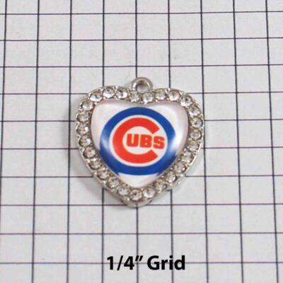 Chicago Cubs Wedding Garter / MLB / Baseball - Charm 516 / Wedding Garters / Bridal Garter / Prom Garter / Linda Joyce Couture