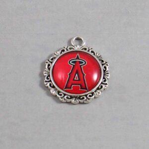 Anaheim Angels Wedding Garter / MLB / Baseball - Charm-517 / Wedding Garters / Bridal Garter / Prom Garter / Linda Joyce Couture