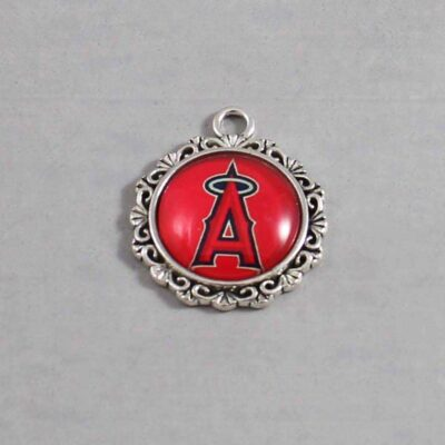 Anaheim Angels Wedding Garter / MLB / Baseball - Charm 517 / Wedding Garters / Bridal Garter / Prom Garter / Linda Joyce Couture