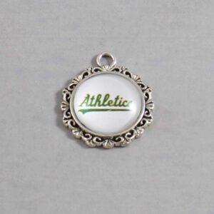 Oakland Athletics Wedding Garter / MLB / Baseball - Charm-518 / Wedding Garters / Bridal Garter / Prom Garter / Linda Joyce Couture