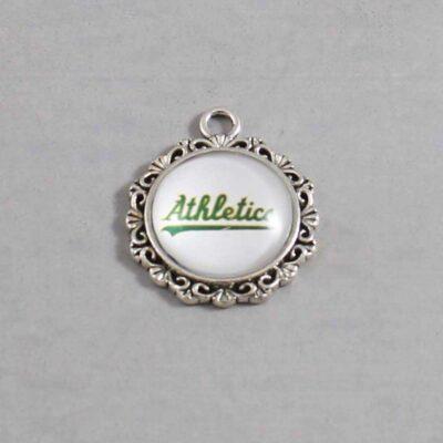 Oakland Athletics Wedding Garter / MLB / Baseball - Charm 518 / Wedding Garters / Bridal Garter / Prom Garter / Linda Joyce Couture