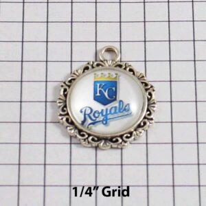 Kansas City Royals Wedding Garter / MLB / Baseball - Charm-519 / Wedding Garters / Bridal Garter / Prom Garter / Linda Joyce Couture