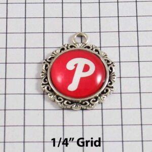 Philadelphia Phillies Wedding Garter / MLB / Baseball - Charm-520 / Wedding Garters / Bridal Garter / Prom Garter / Linda Joyce Couture