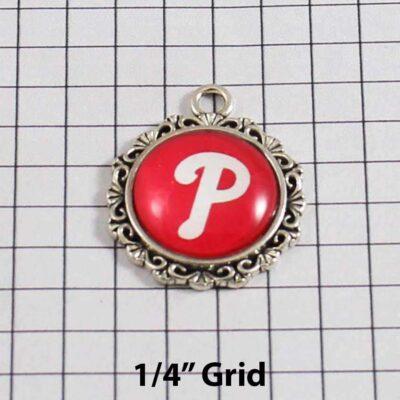 Philadelphia Phillies Wedding Garter / MLB / Baseball - Charm 520 / Wedding Garters / Bridal Garter / Prom Garter / Linda Joyce Couture