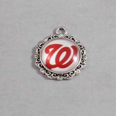 Washington Nationals Wedding Garter / MLB / Baseball - Charm 521 / Wedding Garters / Bridal Garter / Prom Garter / Linda Joyce Couture