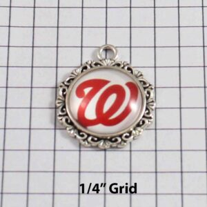 Washington Nationals Wedding Garter / MLB / Baseball - Charm-521 / Wedding Garters / Bridal Garter / Prom Garter / Linda Joyce Couture