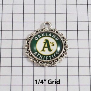 Oakland Athletics Wedding Garter / MLB / Baseball - Charm-524 / Wedding Garters / Bridal Garter / Prom Garter / Linda Joyce Couture