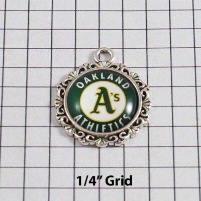 Oakland Athletics Wedding Garter / MLB / Baseball - Charm 524 / Wedding Garters / Bridal Garter / Prom Garter / Linda Joyce Couture