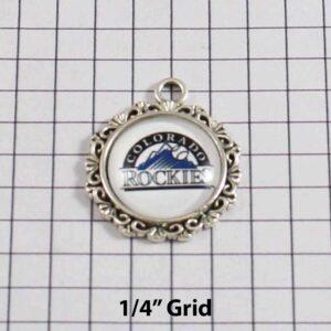 Colorado Rockies Wedding Garter / MLB / Baseball - Charm-527 / Wedding Garters / Bridal Garter / Prom Garter / Linda Joyce Couture