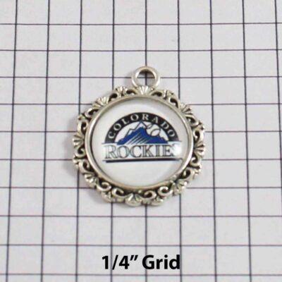 Colorado Rockies Wedding Garter / MLB / Baseball - Charm 527 / Wedding Garters / Bridal Garter / Prom Garter / Linda Joyce Couture