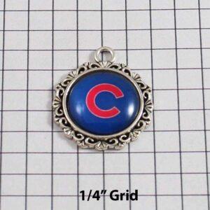 Chicago Cubs Wedding Garter / MLB / Baseball - Charm-530 / Wedding Garters / Bridal Garter / Prom Garter / Linda Joyce Couture