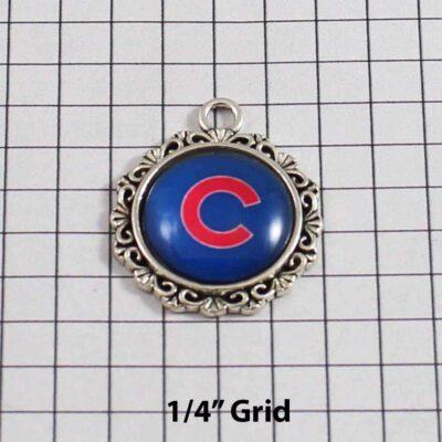 Chicago Cubs Wedding Garter / MLB / Baseball - Charm 530 / Wedding Garters / Bridal Garter / Prom Garter / Linda Joyce Couture