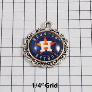 Houston Astros Wedding Garter / MLB / Baseball - Charm-532 / Wedding Garters / Bridal Garter / Prom Garter / Linda Joyce Couture