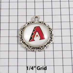 Arizona Diamondbacks Wedding Garter / MLB / Baseball - Charm-535 / Wedding Garters / Bridal Garter / Prom Garter / Linda Joyce Couture /