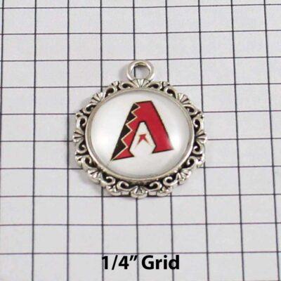 Arizona Diamondbacks Wedding Garter / MLB / Baseball - Charm 535 / Wedding Garters / Bridal Garter / Prom Garter / Linda Joyce Couture /