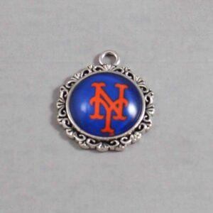 New York Mets Wedding Garter / MLB / Baseball - Charm-536 / Wedding Garters / Bridal Garter / Prom Garter / Linda Joyce Couture