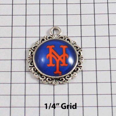 New York Mets Wedding Garter / MLB / Baseball - Charm 536 / Wedding Garters / Bridal Garter / Prom Garter / Linda Joyce Couture