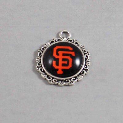 San Francisco Giants Wedding Garter MLB - Charm 538 / Wedding Garters / Bridal Garter / Prom Garter / Linda Joyce Couture